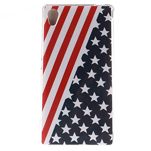 Sony Xperia M4 hülle MCHSHOP Ultra Slim Skin Gel TPU hülle weiche weiche Silicone Silikon Schutzhülle Case für Sony Xperia M4 - 1 Kostenlose Stylus (Löwenzahn sich verlieben (Dandelions Fall in Love)) Flagge der Vereinigten Staaten (Flag of the United Sta