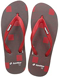 Lotto Men's Grey/Red Hawaii House Slippers