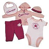 Converse Baby - Mädchen Unterwäsche-Set, 5 Pc Boxed Gift Set, GR. 80 (Herstellergröße: 9-12 Months), Rosa (Eglantine)