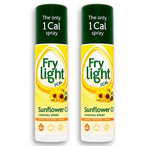Spray Sonnenmilch (Frylight Sunflower Oil Cooking Spray 2x 190ml (380ml) - 1 Cal. per Spray!)