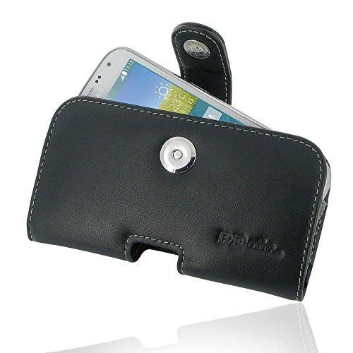 PDAir Galaxy K Zoom Leder Tasche Hülle, Echtleder Handyhülle Tasche mit Gürtelclip Leder Handy Etui, Handarbeit Prämie Horizontal Tasche Für Samsung Galaxy K Zoom SM-C115