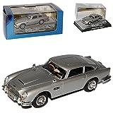 Atlas Aston Martin DB5 James Bond Goldfinger mit Sockel und Vitrine 1/43 Modell Auto mit individiuellem Wunschkennzeichen