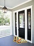 Florence Butterfly Shape Woollen Anti Slip Doormats For Home Size [ 35 x 55 cm ]