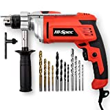 Hi-Spec 900W Heavy Duty Corded Hammer Drill Kit – 13mm Chuck, Variable Speed