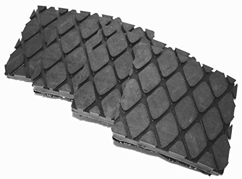 Preisvergleich Produktbild 100x100x10mm (4 Stück Raute) Gummiauflage für Wagenheber Hebebühne Rangierwagenheber
