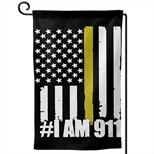 kjhglp 911 Dispatcher Thin Gold Line Flag I Am 911 Outdoor Flag for Advertising/Banner/Outdoor/Indoor/Activities/Home/Anniversary/Party/Decor/Holiday/Seasonal, Etc. (Mini-rasta Flag)