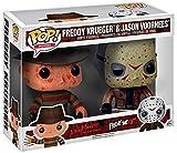 FunKo 12001–Freddy Krueger and Jason Voorhees, Pop Vinyl Figure 2-Pack Freddy Krueger and Jason Voorhees