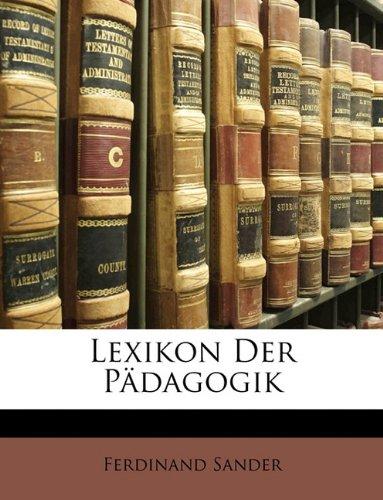 Lexikon Der Pdagogik