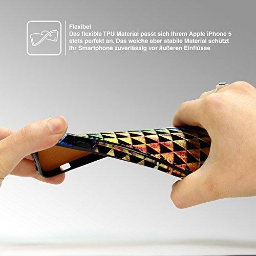 URCOVER Coque Multicolore avec Crochet de Suspension pour Apple iPhone 6 Plus / 6s Plus   Cover Souple avec Dessin Colorée en Fantasy   Housse Étui Douce Back Case Flexible Vintage