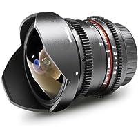 Walimex Pro 8mm 1:3,8 VDSLR Fish-Eye II Objektiv Foto- und Video für Canon EF-S Objektivbajonett schwarz (manueller Fokus, für APS-C Sensor gerechnet, stufenlose Blendeneinstellung)