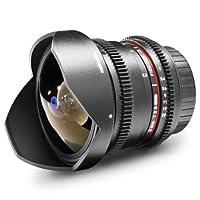 Walimex pro 8 mm 1:3.8 VDSLR Fish-Eye II SLR Negro - Objetivo (SLR, 10/7...