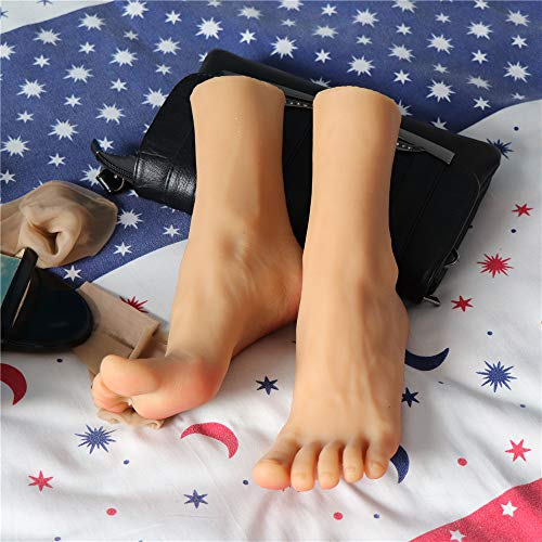 FW-FOOT Silikon Mannequin Fuß, Hochwertige Prothesenfüße aus Platin, Modell 36A mit realistischen Linien, schöne Füße und simulierter Fußfilm für die Sammlung und Fußdarstellung. - Schöne Linie