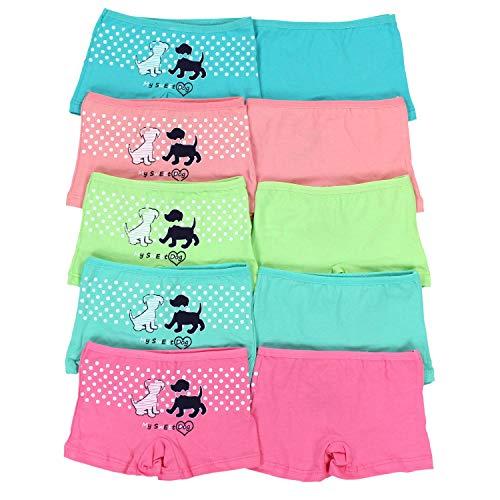 TupTam Mädchen Slips mit Aufdruck 10er Pack, Farbe: Farbenmix 6, Größe: 116-122