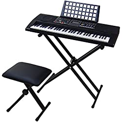 Teclado Electrónico MIDI Piano - 61 Teclas DynaSun MK906
