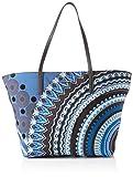 Desigual Damen Bag Friend Sicilia Schultertasche, Blau (Blue Indigo), 29.5x12x31 cm