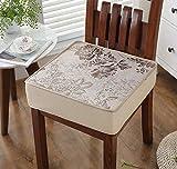DADAO Cuscini per sedie da esterno,Quadrato di bambù opaco ispessimento spugna - 8cm-A 45x45cm(18x18inch)