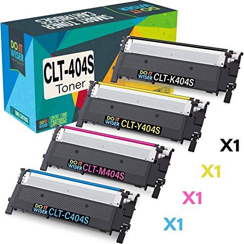Do it Wiser Kompatible Toner als Ersatz für Samsung C480W C480FW C430W C430 C480 C480FN - CLT Y404S CLT C404S CLT M404S (4er-Pack)