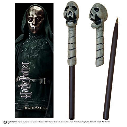 The Noble Collection Death Eater (Skull) Wand Pen and Bookmark -