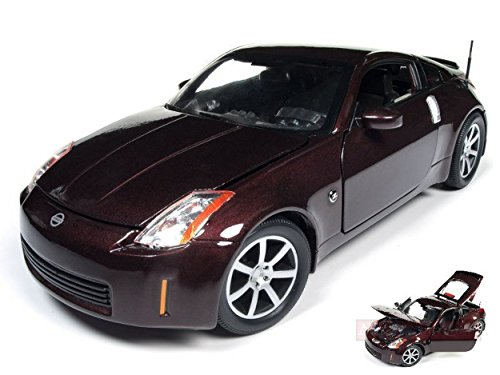 AUTO WORLD AW240 NISSAN 350Z COUPE' 2003 BURGUNDY MET.BURGUNDY 1:18 DIE CAST (Model Auto Nissan Kit)