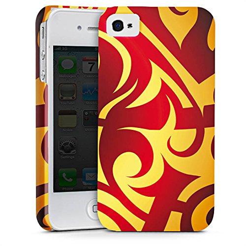 Apple iPhone X Silikon Hülle Case Schutzhülle Abstrakt Muster Blumen Premium Case glänzend