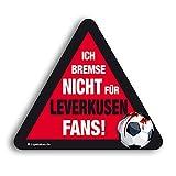 Kfz-Aufkleber Ich Bremse Nicht für Leverkusen-Fans | Für mehr Spaß im Verkehr für alle FC Köln, Fortuna Düsseldorf- & Fußball-Fans | Vereinsaufkleber - PKW Auto Kfz Aufkleber