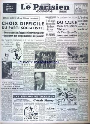 PARISIEN LIBERE EDITION DE PARIS (LE) [No 817] du 03/05/1947