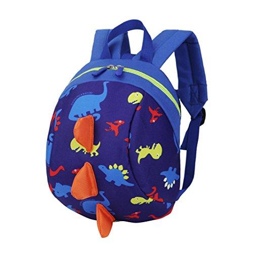 sunnymi Gute Qualität Unisex★Kinder Rucksack★Mini Backpack Mädchen Jungen/Dinosaurier-Dorsalflossen Muster/Kinder Gartentasche/Schule Baby-Kindergarten Hartschale (Dunkelblau)