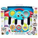 Playgro Füßchenklavier mit Musik und Lichteffekten 40196 - Ab 0 Monaten - Mehrfarbig