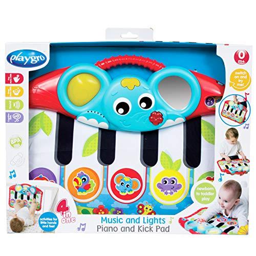 Playgro Füßchenklavier mit Musik und Lichteffekten, Ab 0 Monaten, Mehrfarbig, 40196