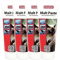 4 x 250 g Beaphar 12964 Malt-Paste für Katzen bei Haarballenbildung