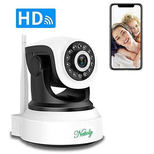 Überwachungskamera Sicherheitskamera IP Kamera mit Wifi HD Wireless WLAN Kamera Kamera-Sicherheitssystem 720P P2P IR Nachtsicht Drahtlose IP Camera für Security Home Baby Monitor 1 + 3M Netzkabel
