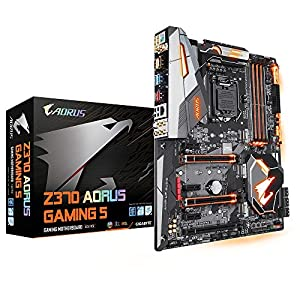 GIGABYTE Intel 1151 Socket Z370 Chipset Aorus Gaming 5 D4 ATX Motherboard - Black
