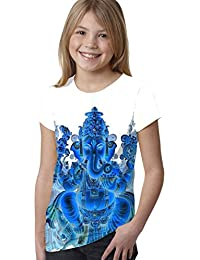 Invertir Ganesh Chaturthi Hindú Niñas Para Niños Todo T Shirt Top Color Boy Vacaciones