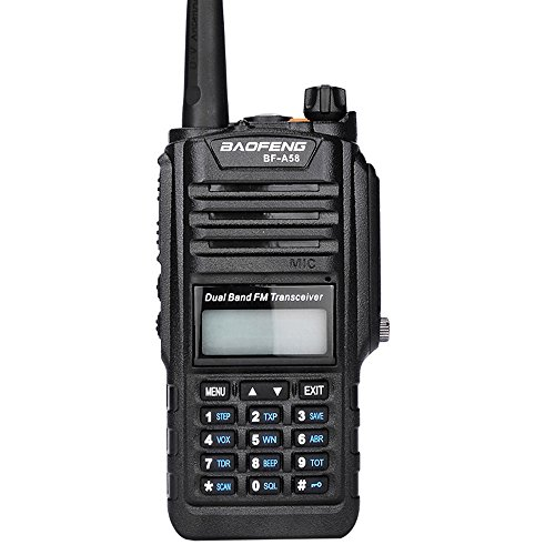 Mengshen Baofeng BF-A58 Radio, Waterproof Dustproof Portable Walkie Talkie VHF UHF 136-174/400-520MHZ Dual Band Amateur Transceiver BF-A58 Ou