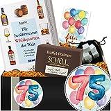 Geschenkidee 75. Jubiläum | Whisky Set + Kühlsteine | 75 Geburtstag Geschenke