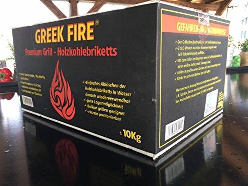 10 kg Greek Fire Profi-Holzkohlebriketts (Holzkohle Briketts)