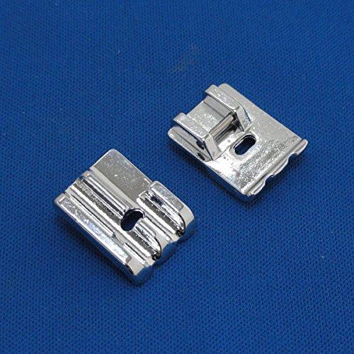 Tinksky 3/16Zoll universal Piping Nähfuß für BROTHER/Singer/Toyota/Babylock/Janome-2Stück/Set (Presser Fuß Für Kenmore)