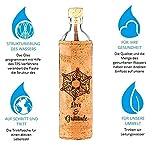 Flaska Trinkflasche Design Emoto Peace Project - Wasserflasche Glasflasche + 2 Korken (0,75 Liter)