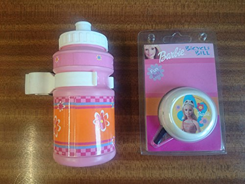 barbie-girlie-bike-cycle-bell-and-drinks-bottle-with-stem-fitting-holder-pink-ideal-present