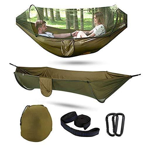 Qylt amaca da campeggio con zanzariera, leggero lettino da viaggio portatile 200kg di capacità di carico, amaca da 2 persone per escursionismo all'aperto zaino in viaggio (114