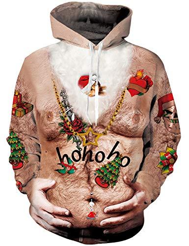 Goodstoworld Sweat Shirt Octopus 3D Imprimé Homme Femme Funny Poulpe Cool Motif Pull a Capuche Hoodie Unisex Veste