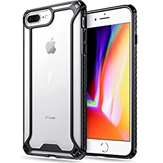 iPhone 7 Plus / iPhone 8 Plus Case, POETIC Affinity Series Premium Thin/No Bulk/Clear/Dual material Protective Bumper Case for Apple iPhone 7 Plus / iPhone 8 Plus (2017) Black/Clear