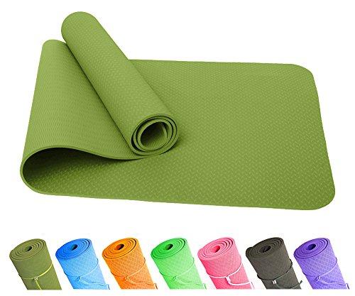Good Times Yogamatte, rutschfest, TPE, umweltfreundlich, hypoallergen, hautfreundlich, SGS geprüft,...