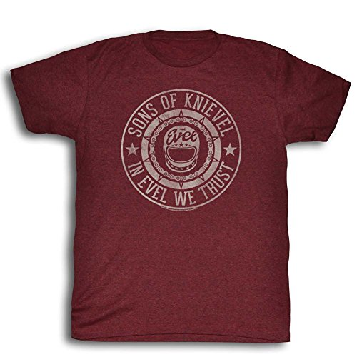 Evel Knievel - Herren Seal T-Shirt Cranberry Heather