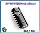 Handsender Hörmann HS 4 BS - BiSecure - 868MHz - Schwarz