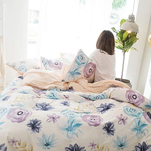 BAIJINGTING1 Cotton Bettwäsche -Sets derneuen Art -große Blumen -Dekoration flaches Blatt Pillowcase BettwäscheAbdeckung Königin King Size -Abdeckung -