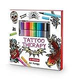 STABILO art-therapy Tattoo–Set mit Album und Etui mit 15Fasermaler Pen 68