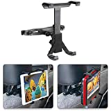 "POMILE Car Headrest Mount for DVD Player, Adjustable Car Seat Headrest Mount for Portable DVD Player, Apple iPad Air/Mini, Samsung Galaxy Tab, Kindle Fire, 7"" ~ 12"" Tablets"