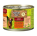 NATUR plus Hundefutter ADULT mit 70% Geflügel (6 x 200 g)