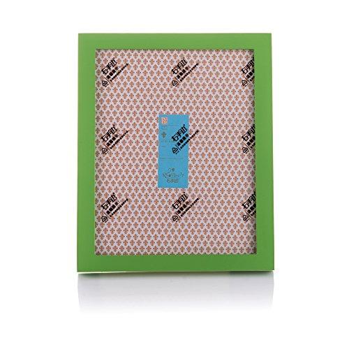 Fulemay Einfache Bilderrahmen aus massivem Holz 10x15cm hochwertige Bilderrahmen glamourösen Look für Tabletop Display und Wand Dekor (Grün, 3.5X5) (Tabletop-bilderrahmen)